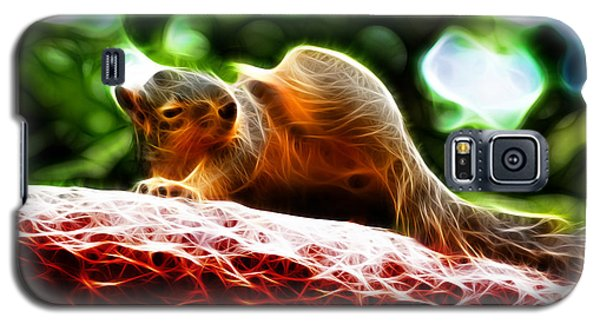 Galaxy S5 Case featuring the digital art Oh Buggers I Itch - Fractal - Robbie The Squirrel by James Ahn