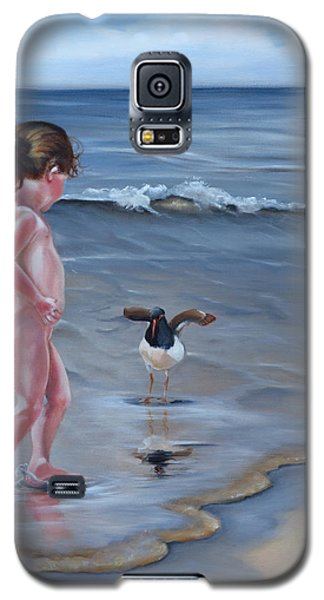 Galaxy S5 Case featuring the painting Oh Hello There by Phyllis Beiser