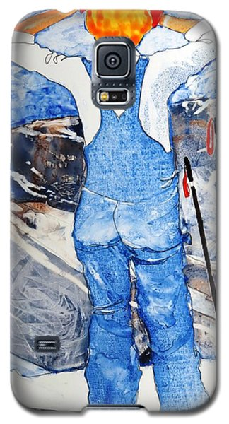 Galaxy S5 Case featuring the painting Oh Say Can You Ski by Elizabeth Carr