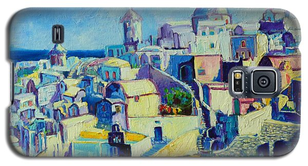 Galaxy S5 Case featuring the painting OIA by Ana Maria Edulescu