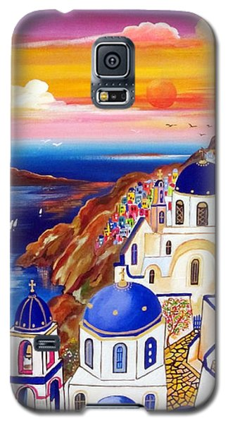 Oia Santorini Greece Galaxy S5 Case by Roberto Gagliardi