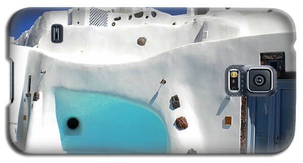 Oia Santorini  With Direct View To The Oceon Greece Galaxy S5 Case by Colette V Hera  Guggenheim