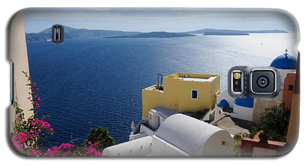 Oia Village In Santorini Island  Galaxy S5 Case by Haleh Mahbod