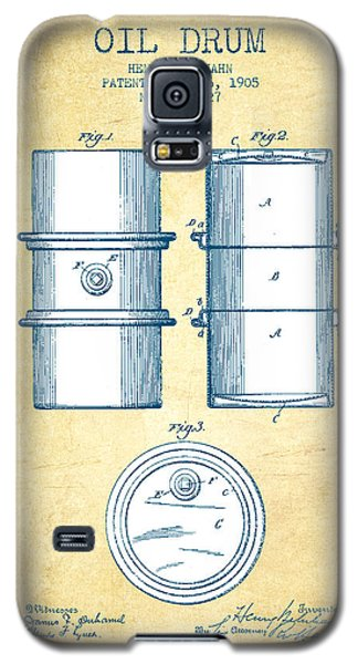 Drum Galaxy S5 Case - Oil Drum Patent Drawing From 1905 - Vintage Paper by Aged Pixel