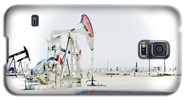 Galaxy S5 Case featuring the photograph Oil Field by Joel Loftus