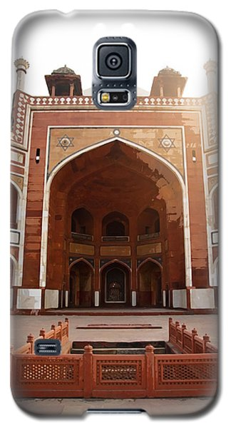Oil Painting - Cross Section Of Humayun Tomb Galaxy S5 Case by Ashish Agarwal