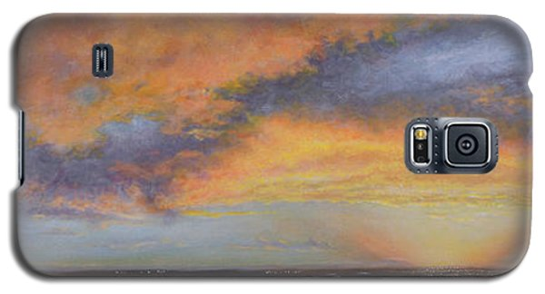 Oil Painting When The Sky Turns Color Galaxy S5 Case