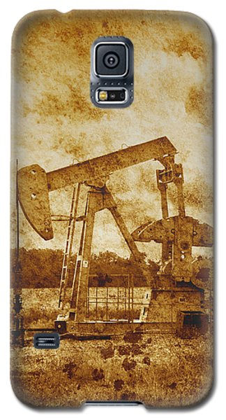 Oil Pump Jack In Sepia Two Galaxy S5 Case by Ann Powell