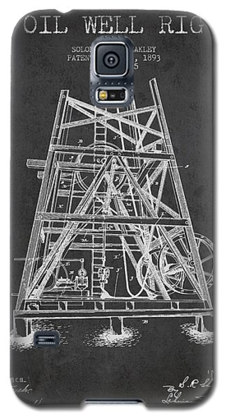 Oil Well Rig Patent From 1893 - Dark Galaxy S5 Case by Aged Pixel