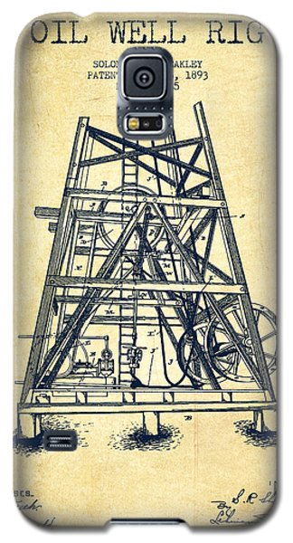 Oil Well Rig Patent From 1893 - Vintage Galaxy S5 Case by Aged Pixel