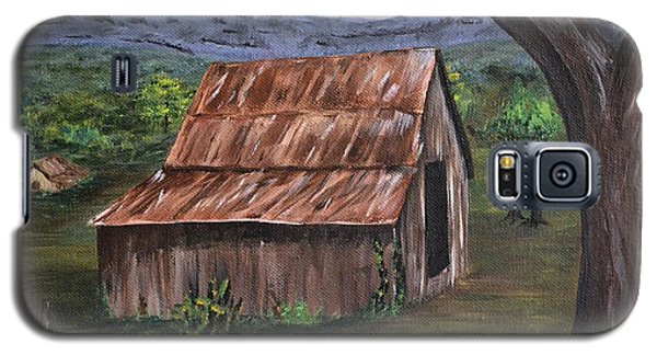 Galaxy S5 Case featuring the painting Old Barn by Debbie Baker