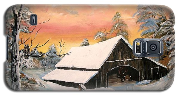 Galaxy S5 Case featuring the painting Old Barn Guardian by Sharon Duguay