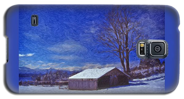 Old Barn In Winter Galaxy S5 Case