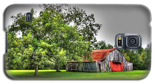 Galaxy S5 Case featuring the photograph Old Barn With Red Door by Lanita Williams