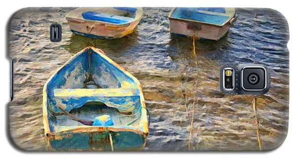 Galaxy S5 Case featuring the photograph Old Bermuda Rowboats by Verena Matthew