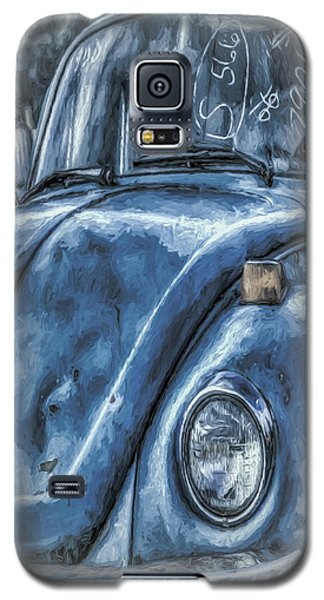 Galaxy S5 Case featuring the photograph Old Blue Bug by Jean OKeeffe Macro Abundance Art