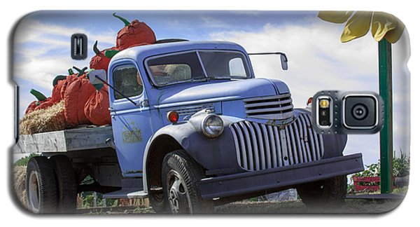 Galaxy S5 Case featuring the photograph Old Blue Farm Truck  by Patrice Zinck