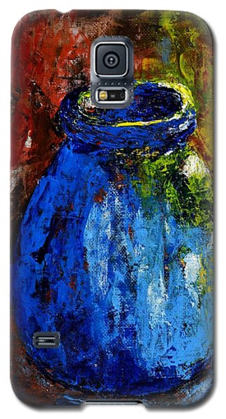 Galaxy S5 Case featuring the painting Old Blue Jar by Melvin Turner