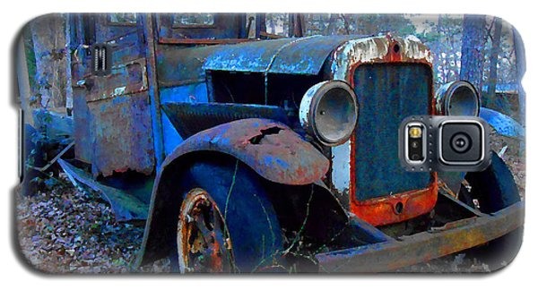 Old Blue Pickup Truck Galaxy S5 Case