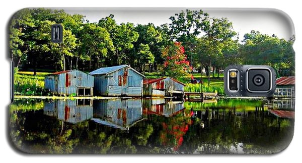 Old Boat House Reflection Galaxy S5 Case