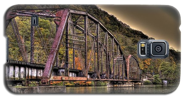 Galaxy S5 Case featuring the photograph Old Bridge Over Lake by Jonny D