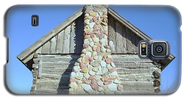 Galaxy S5 Case featuring the photograph Old Cabin Chimney by J L Zarek