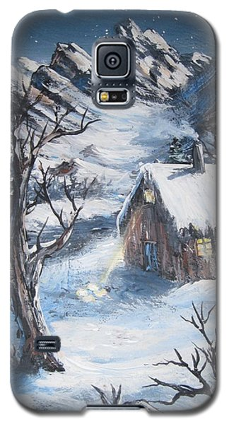 Galaxy S5 Case featuring the painting Old Cabin by Megan Walsh