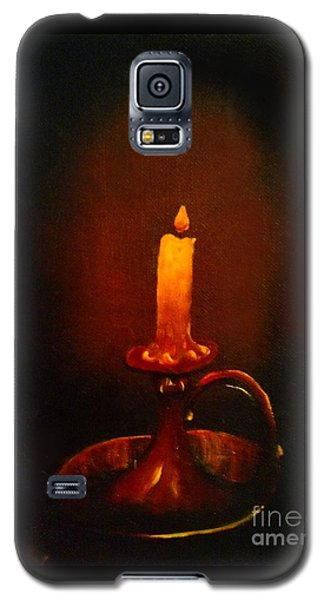 Old Candle Stick Painting Galaxy S5 Case by Becky Lupe