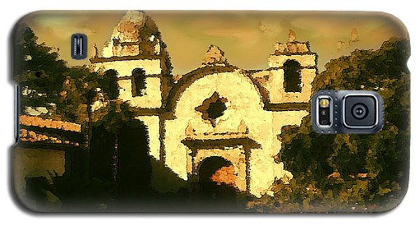 Old Carmel Mission - Watercolor Drawing Galaxy S5 Case by Art America Gallery Peter Potter