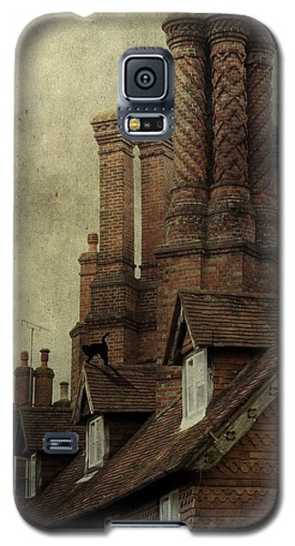 Galaxy S5 Case featuring the photograph Old English House With Cat by Ethiriel  Photography