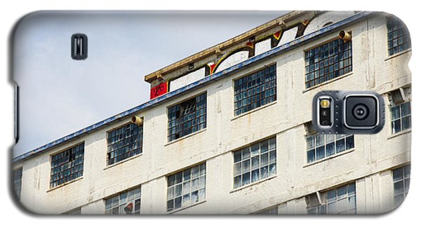 Old Factory Under A Clear Blue Sky Galaxy S5 Case by Nick  Biemans