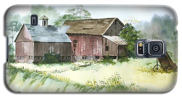 Galaxy S5 Case featuring the painting Old Farm Buildings by Susan Crossman Buscho