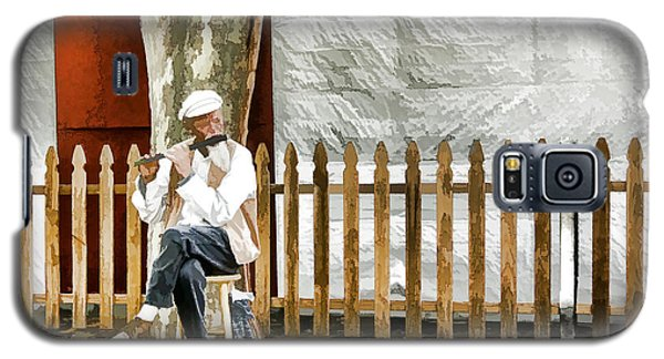 Old Flute Player Galaxy S5 Case