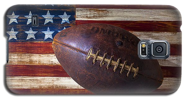 Old Football On American Flag Galaxy S5 Case