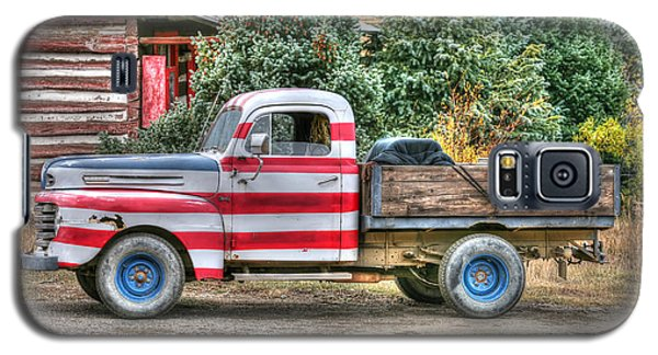 Galaxy S5 Case featuring the photograph Old Glory Ford Pickup by Harold Rau