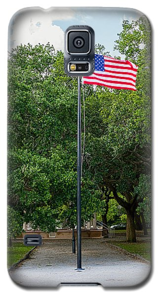 Galaxy S5 Case featuring the photograph Old Glory High And Proud by Sennie Pierson
