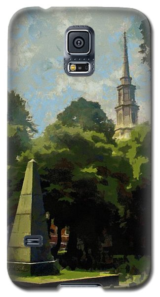 Galaxy S5 Case featuring the painting Old Granery Burying Ground by Jeff Kolker