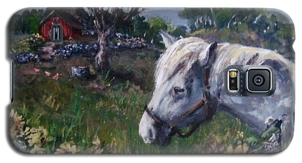 Galaxy S5 Case featuring the painting Old Grey Mare by Megan Walsh