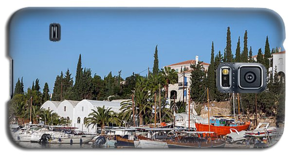 Old Harbour In Spetses Town Galaxy S5 Case