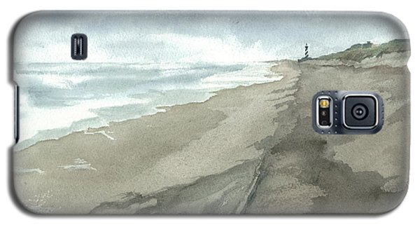 Galaxy S5 Case featuring the painting Old Hatteras Light by Joel Deutsch