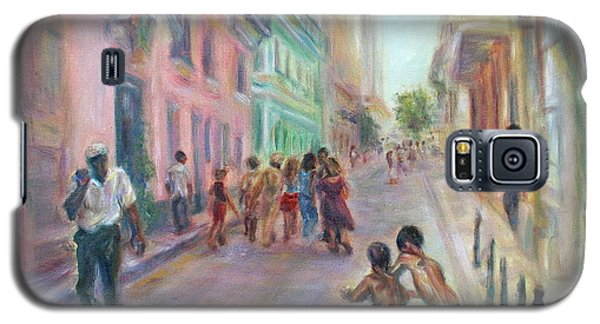 Old Havana Street Life - Sale - Large Scenic Cityscape Painting Galaxy S5 Case