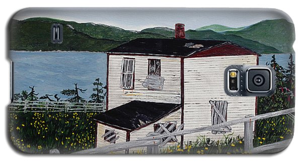 Galaxy S5 Case featuring the painting Old House - If Walls Could Talk by Barbara Griffin