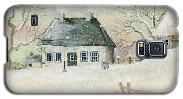 Old House In The Snow/ Painted Digitally Galaxy S5 Case