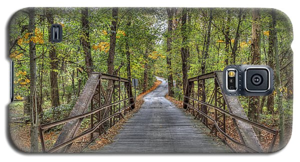 Galaxy S5 Case featuring the photograph Old Iron Bridge At Panther Creek by Wendell Thompson