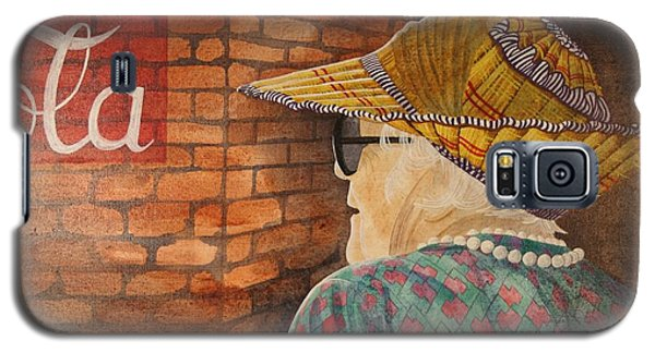 Old Lady With Hat Galaxy S5 Case by Paul Amaranto
