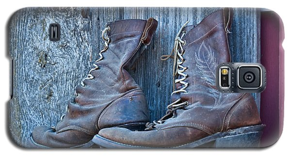 Old Leather Boots Still Life Galaxy S5 Case