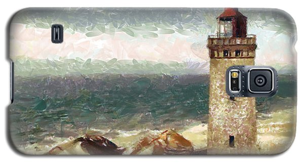 Galaxy S5 Case featuring the painting Old Lighthouse by Georgi Dimitrov