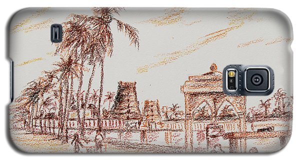 Galaxy S5 Case featuring the painting Old Madras-mylapore Tank by Ragunath Venkatraman