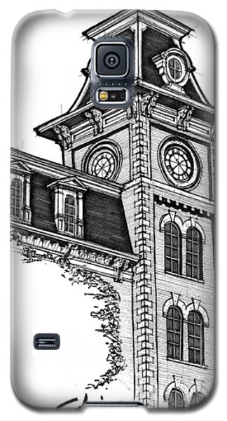 Galaxy S5 Case featuring the drawing Old Main by Calvin Durham