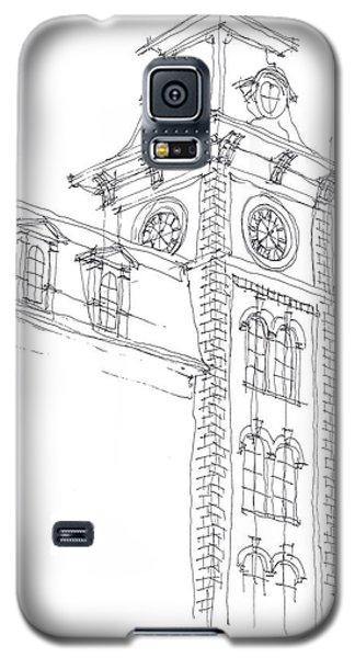 Galaxy S5 Case featuring the drawing Old Main Study by Calvin Durham